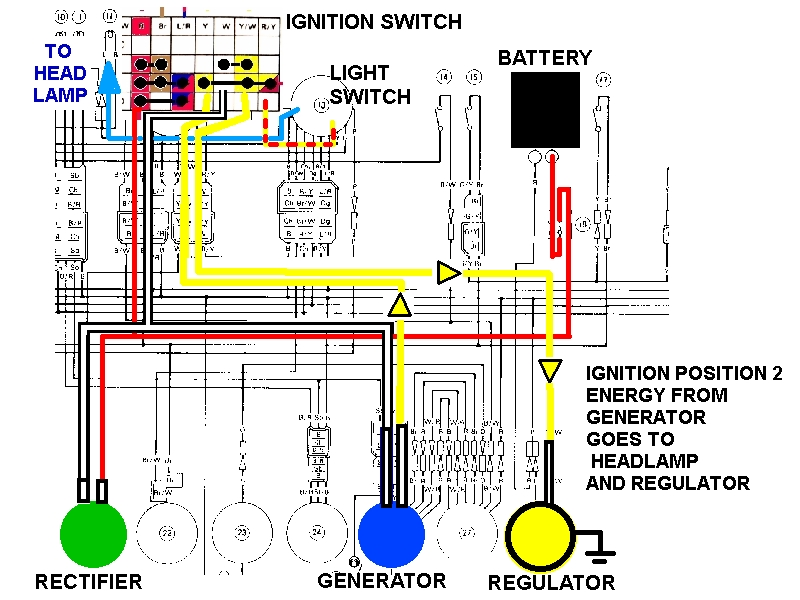 wd dt 175 mx 12volt conversion page 2 yamaha workshop yamaha honda c90 wiring diagram 6v at gsmx.co